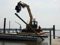 Pier rehab on Biloxi Bay